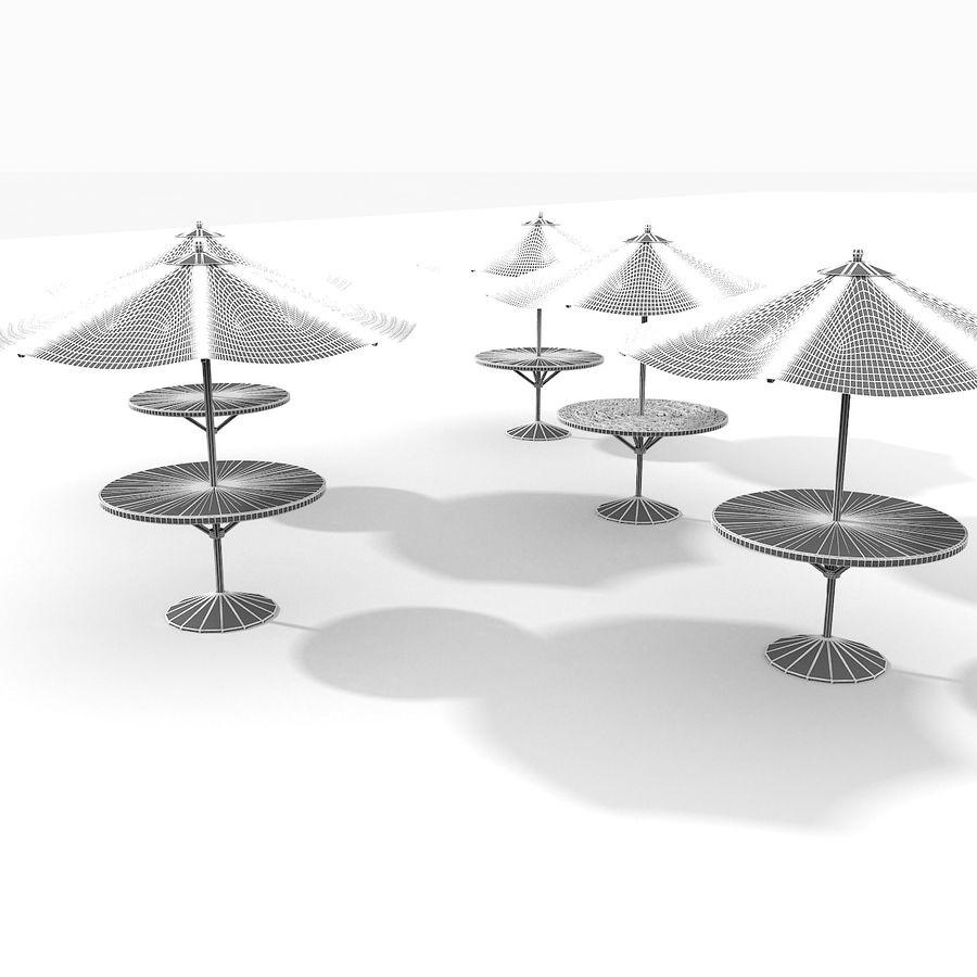 Beach Sun Umbrella royalty-free 3d model - Preview no. 17