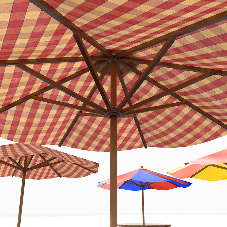 Beach Sun Umbrella royalty-free 3d model - Preview no. 5