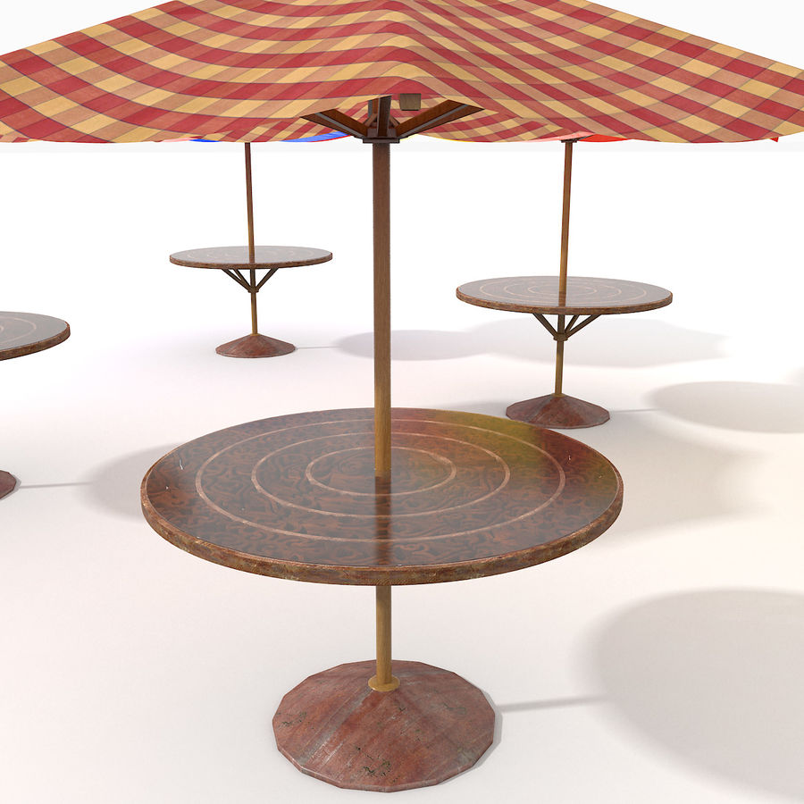 Beach Sun Umbrella royalty-free 3d model - Preview no. 9