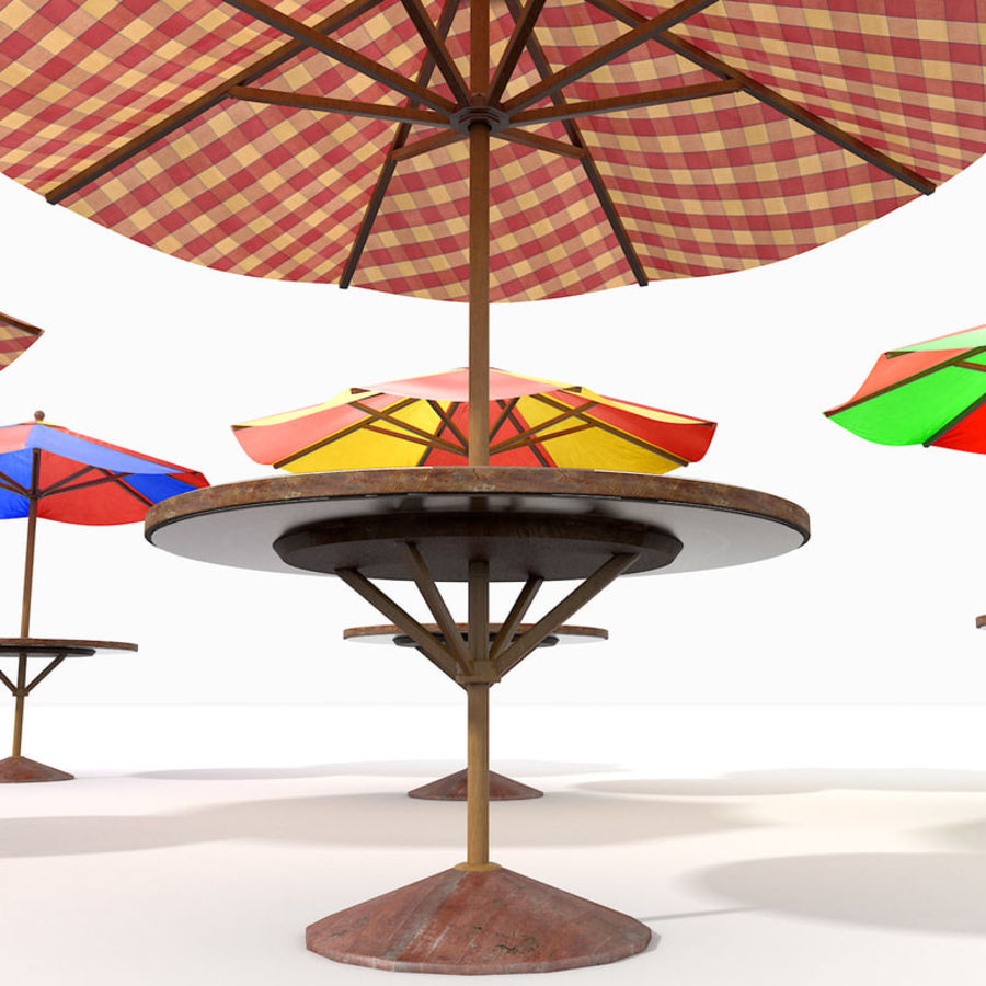 Beach Sun Umbrella royalty-free 3d model - Preview no. 13