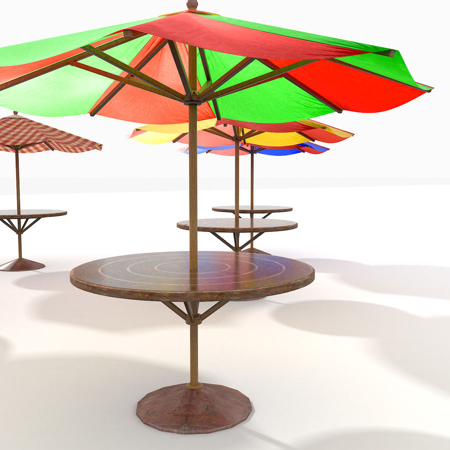 Beach Sun Umbrella royalty-free 3d model - Preview no. 3