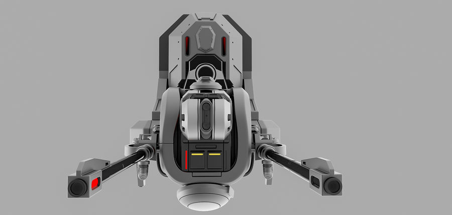 weapon system royalty-free 3d model - Preview no. 4