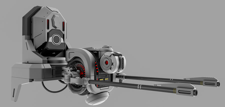 weapon system royalty-free 3d model - Preview no. 1