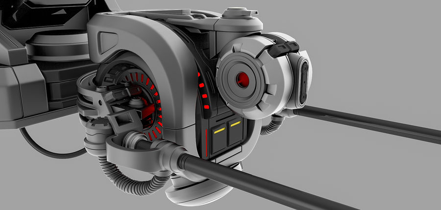 weapon system royalty-free 3d model - Preview no. 2