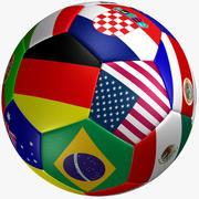 Bandeira de bola de futebol 3d model