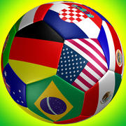 Flaga piłki nożnej 3d model