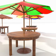 Beach Sun Umbrella (2) 3d model
