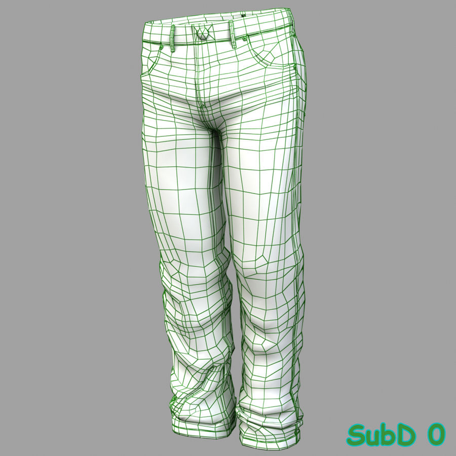 Jeans de hombre royalty-free modelo 3d - Preview no. 10