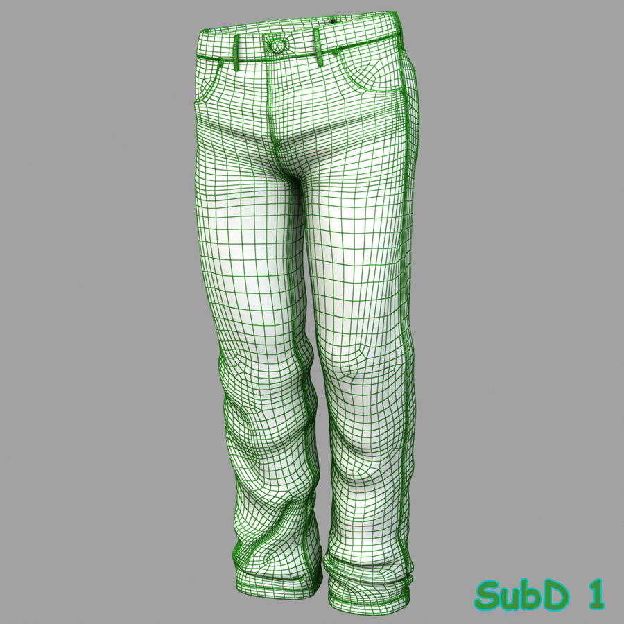 Jeans de hombre royalty-free modelo 3d - Preview no. 11