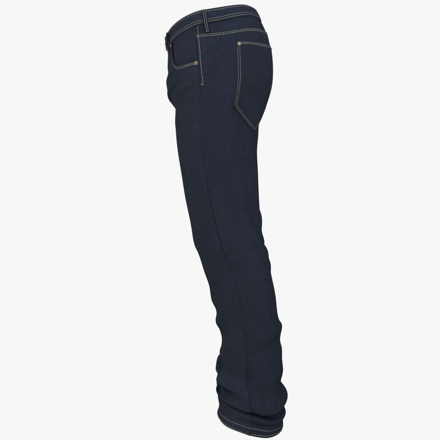 Jeans de hombre royalty-free modelo 3d - Preview no. 7