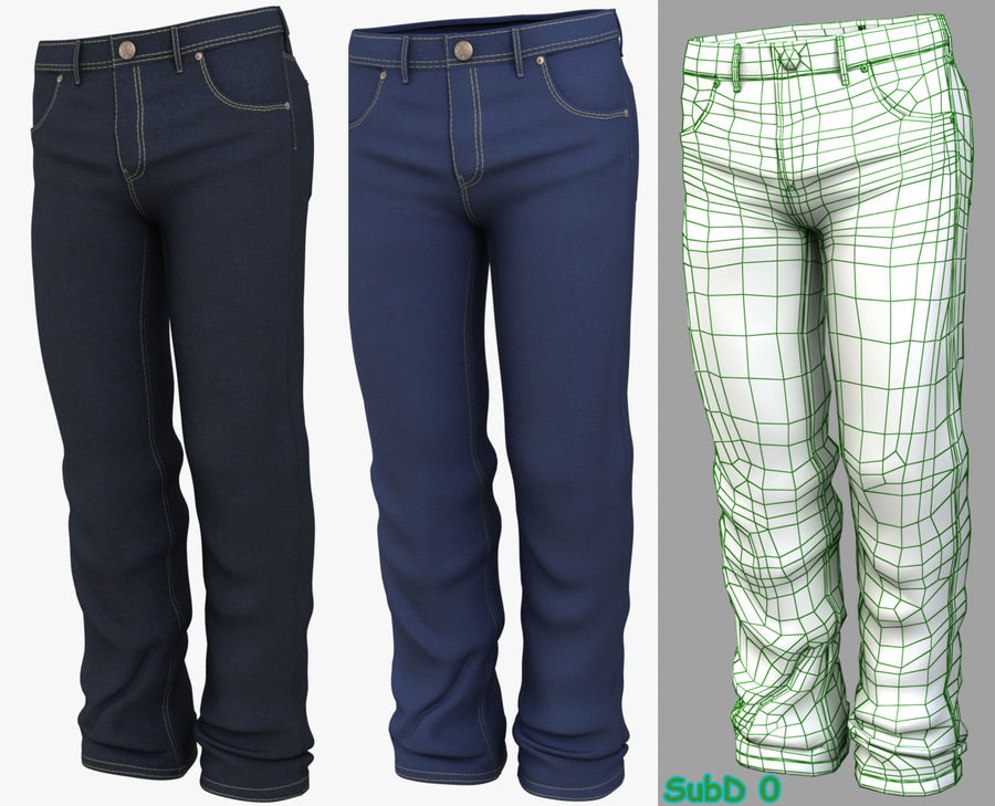 Jeans de hombre royalty-free modelo 3d - Preview no. 2