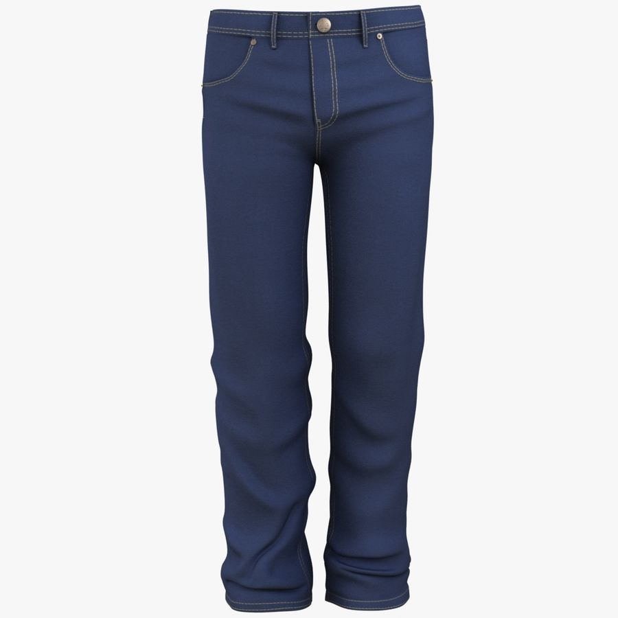 Jeans de hombre royalty-free modelo 3d - Preview no. 6