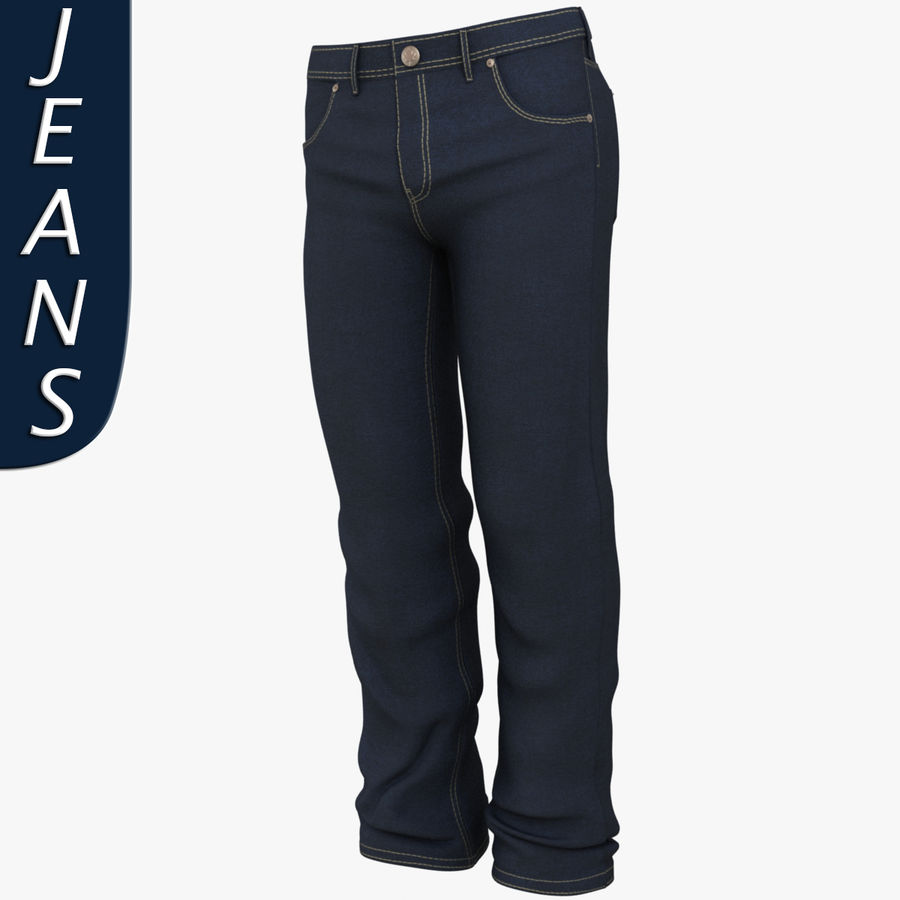 Jeans de hombre royalty-free modelo 3d - Preview no. 1