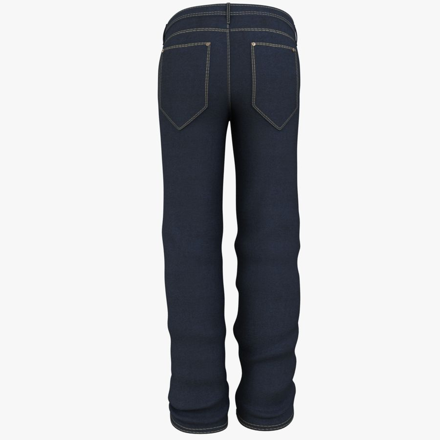 Jeans de hombre royalty-free modelo 3d - Preview no. 9