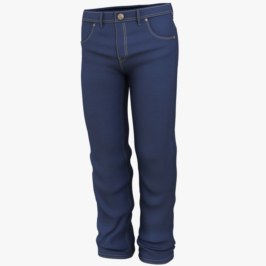 Jeans de hombre royalty-free modelo 3d - Preview no. 8