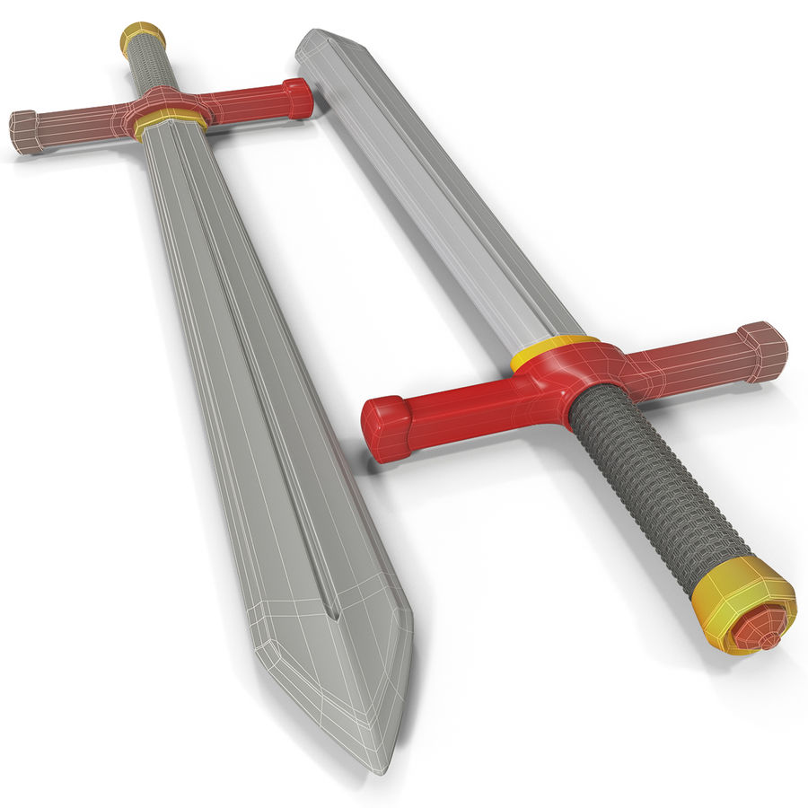 Toy Sword royalty-free 3d model - Preview no. 3