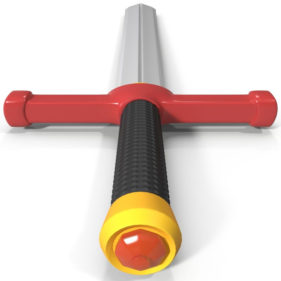 Toy Sword royalty-free 3d model - Preview no. 5