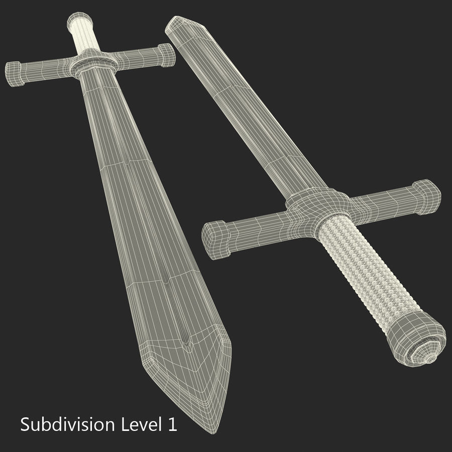 Toy Sword royalty-free 3d model - Preview no. 18