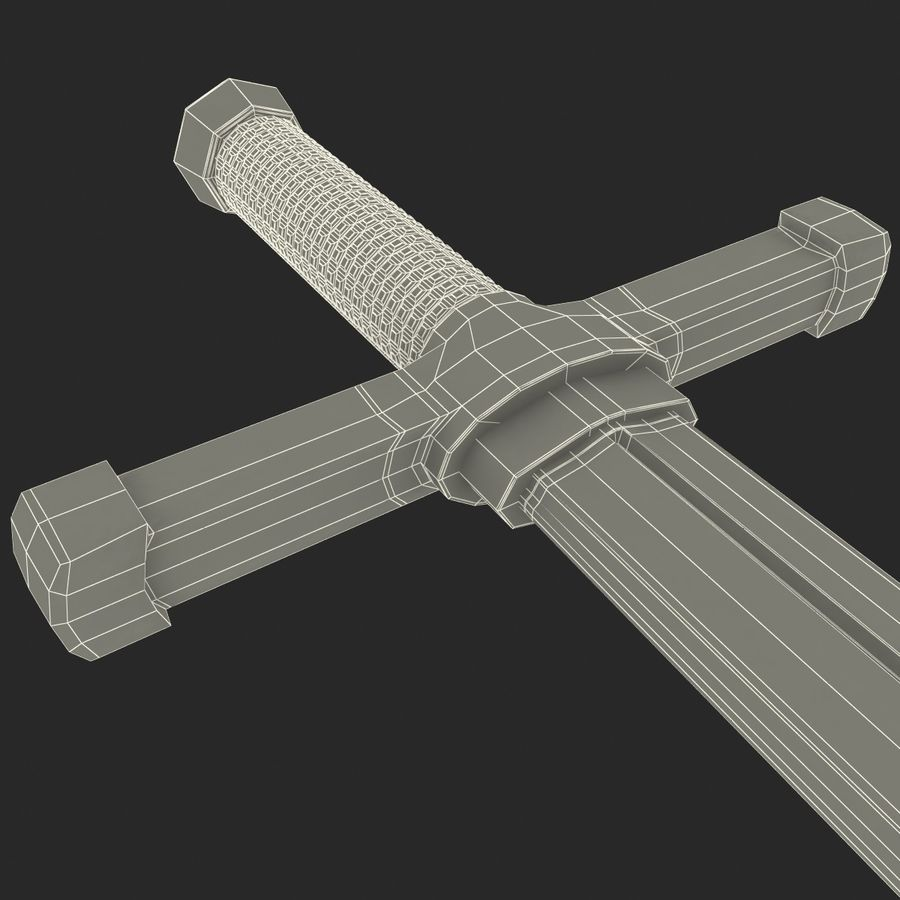 Toy Sword royalty-free 3d model - Preview no. 15