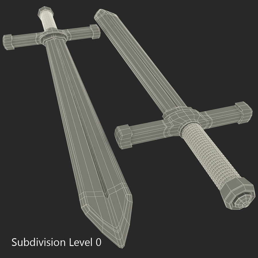 Toy Sword royalty-free 3d model - Preview no. 19