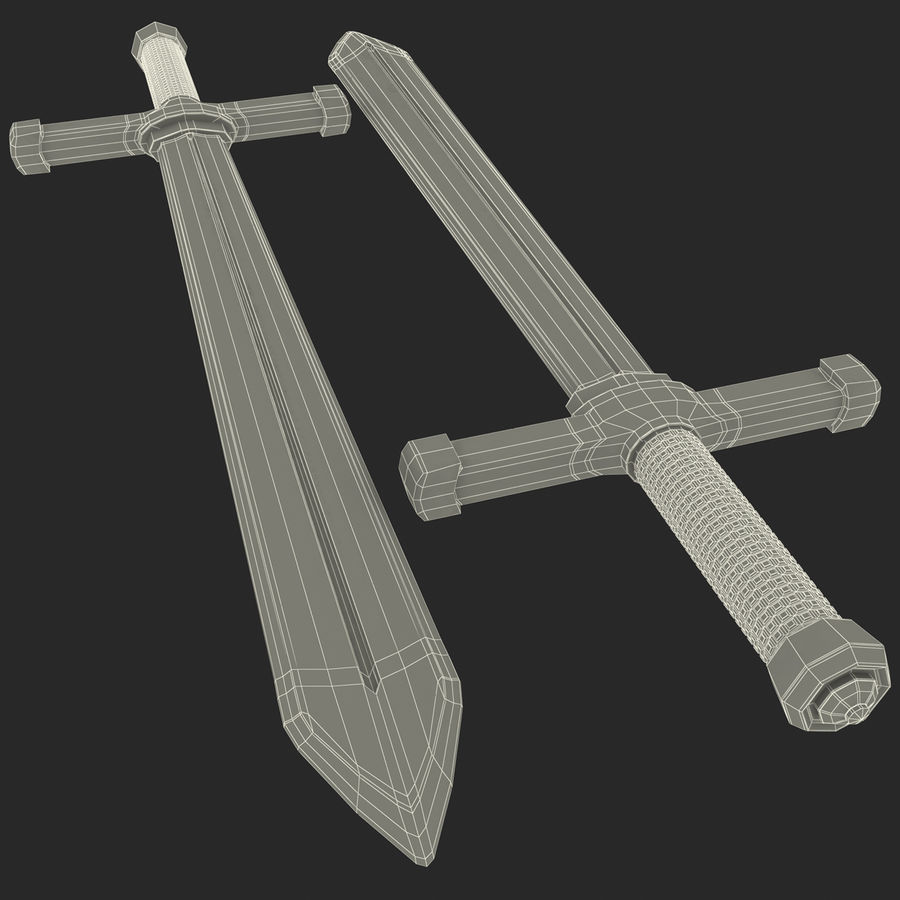 Toy Sword royalty-free 3d model - Preview no. 12
