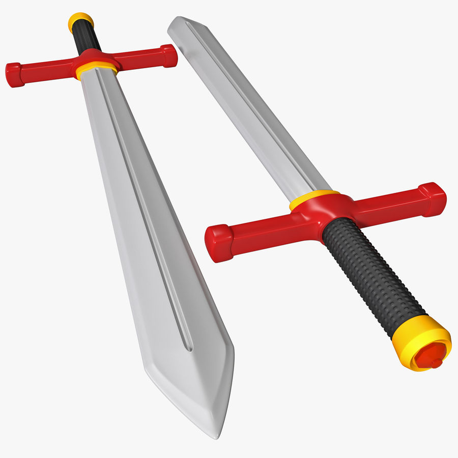Toy Sword royalty-free 3d model - Preview no. 1