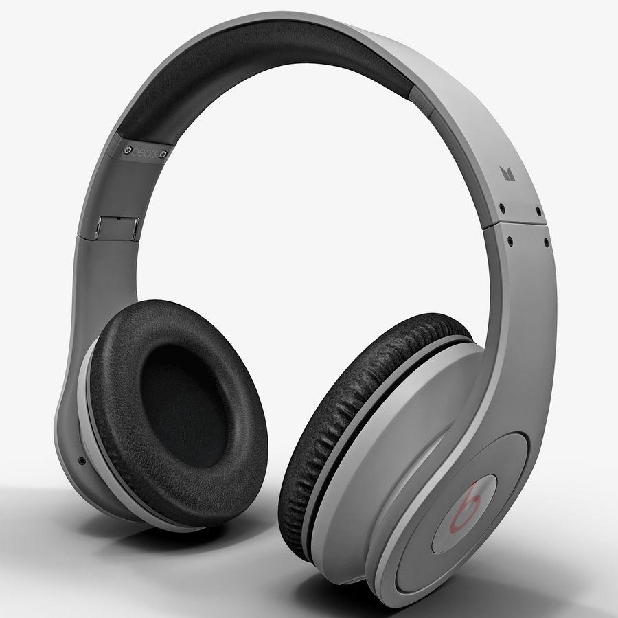 Monster Beats Studio Headphones royalty-free 3d model - Preview no. 1