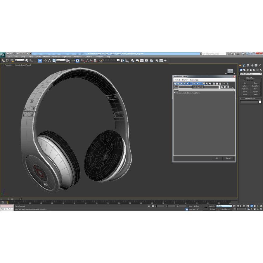 Monster Beats Studio Headphones royalty-free 3d model - Preview no. 25