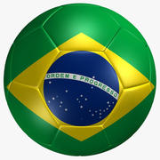 Soccer Ball Brazil Flag 3d model