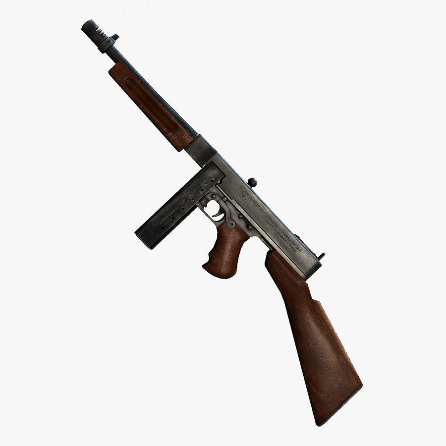 Soldier (Ben) USA WW2 vs Thompson Gun 1928 A1 3D Model $35