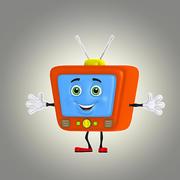 tecknad TV 1 3d model