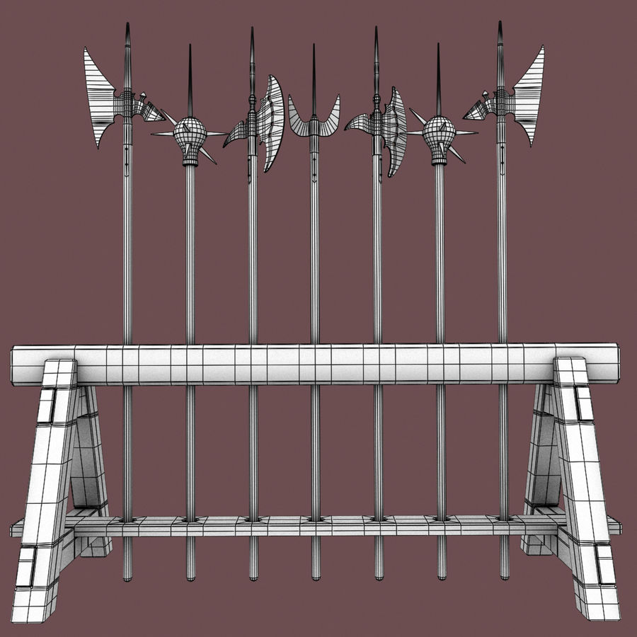 Medieval Weapons royalty-free 3d model - Preview no. 17
