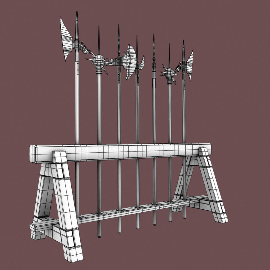 Medieval Weapons royalty-free 3d model - Preview no. 16