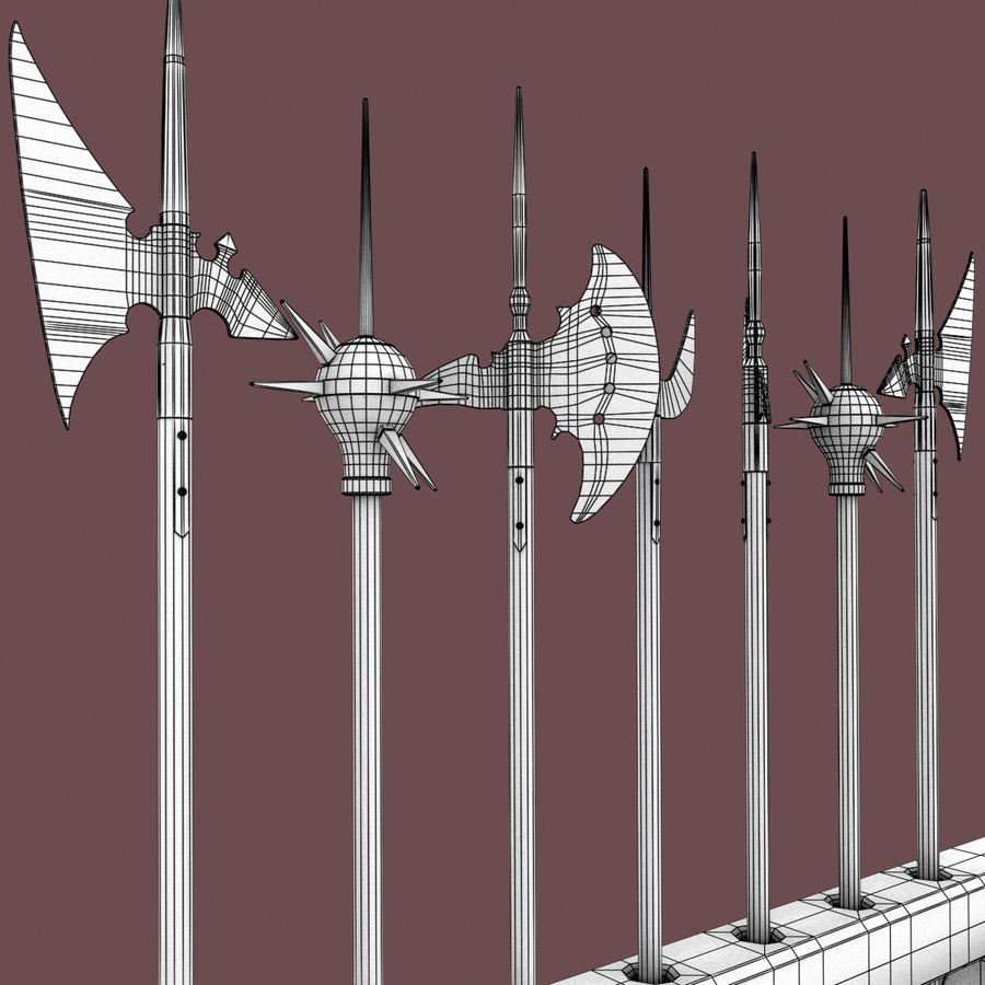 Medieval Weapons royalty-free 3d model - Preview no. 18