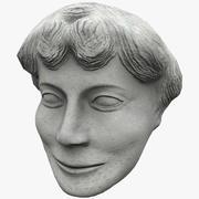 Сатир Лицо Статуя 5 3d model