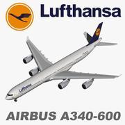 Airbus A340-600 Lufthansa 3d model