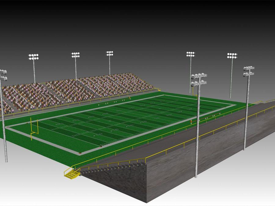 Футбольный стадион Малый royalty-free 3d model - Preview no. 4