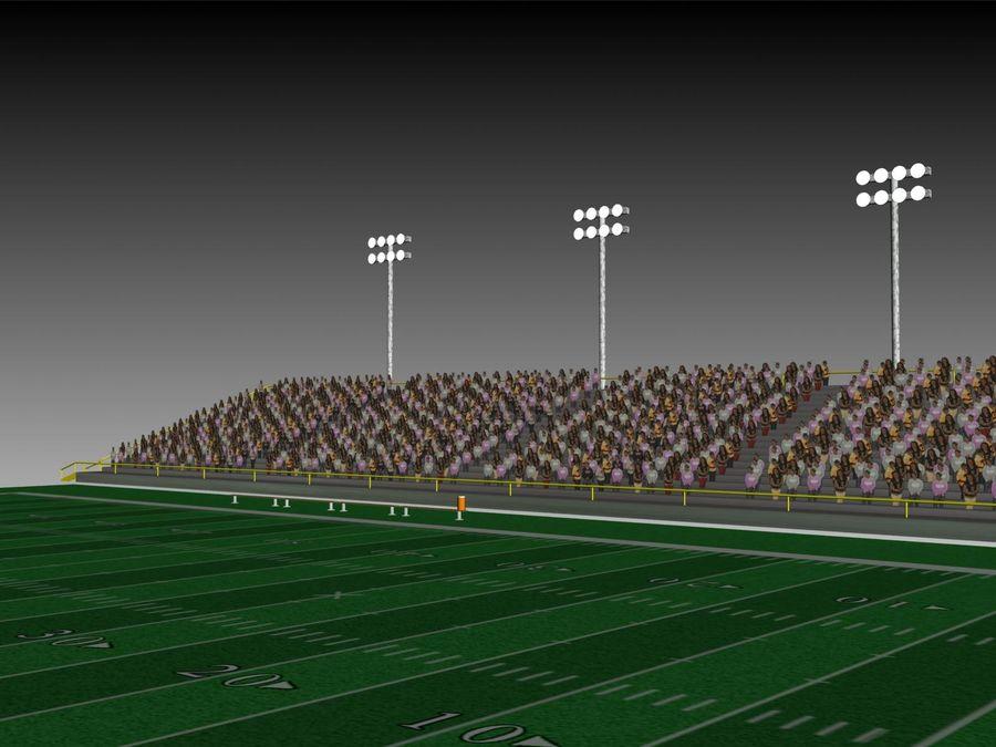 Футбольный стадион Малый royalty-free 3d model - Preview no. 3