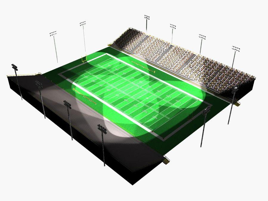 Футбольный стадион Малый royalty-free 3d model - Preview no. 5