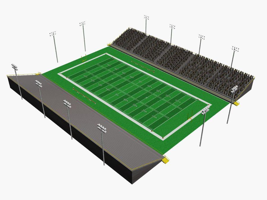 Футбольный стадион Малый royalty-free 3d model - Preview no. 1