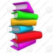 Books 2 3d model