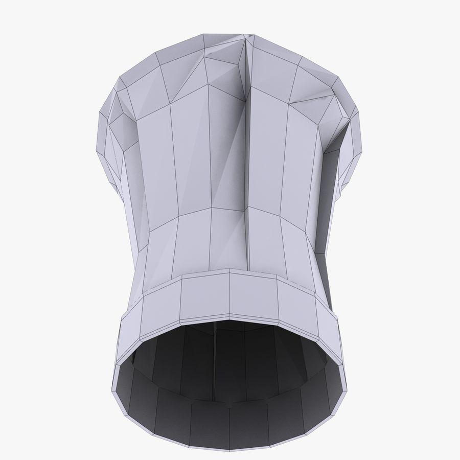 Kapelusz szefa kuchni royalty-free 3d model - Preview no. 4
