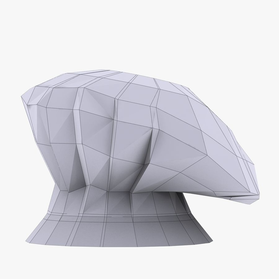 Chef Hat 3 royalty-free 3d model - Preview no. 5