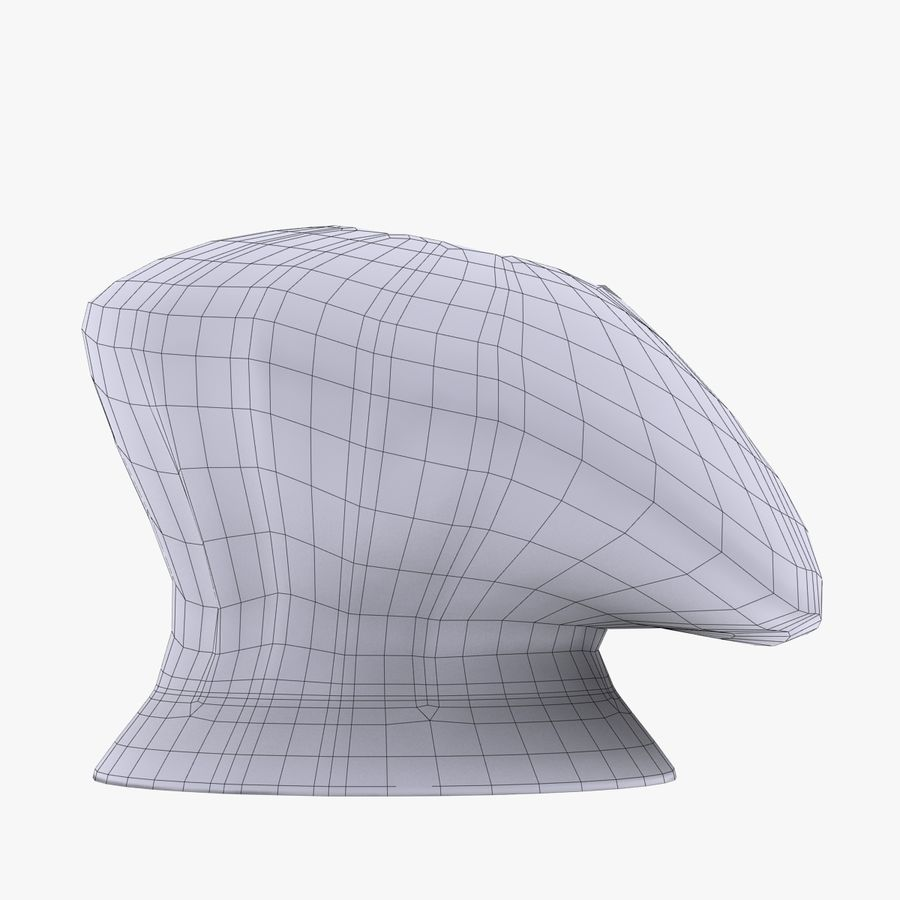 Chef Hat 3 royalty-free 3d model - Preview no. 4