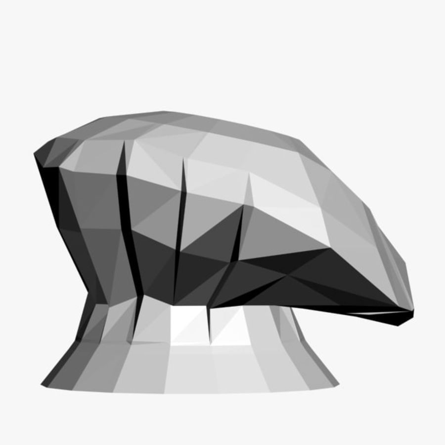 Chef Hat 3 royalty-free 3d model - Preview no. 3