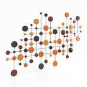 Wall Art Rythm Circles 3d model
