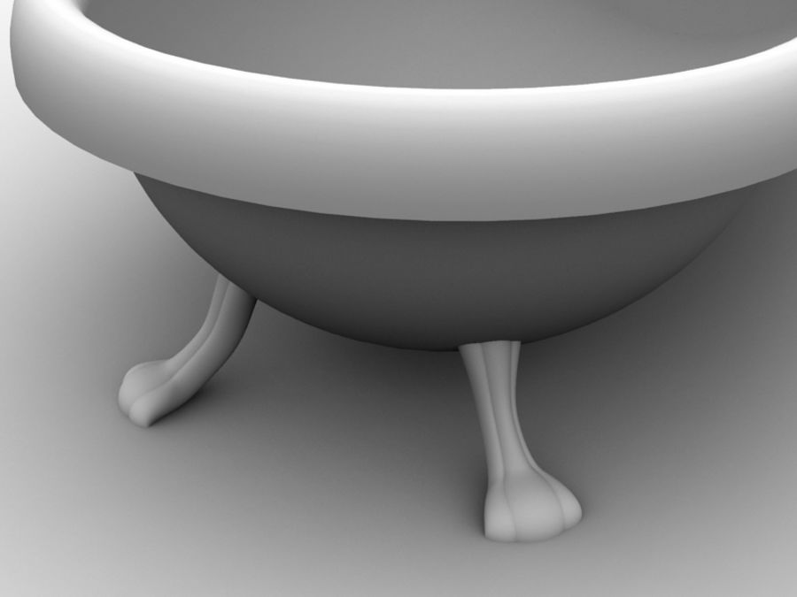 Baignoire royalty-free 3d model - Preview no. 3