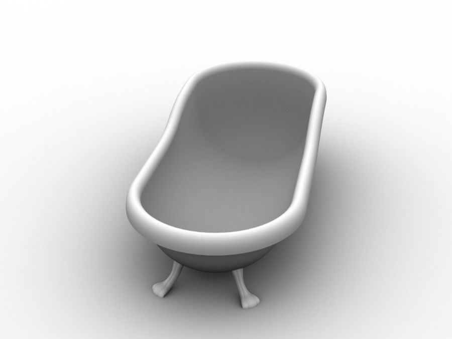Baignoire royalty-free 3d model - Preview no. 2