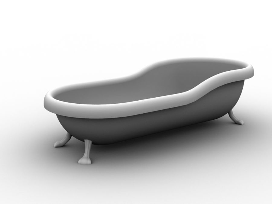 Baignoire royalty-free 3d model - Preview no. 1