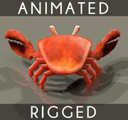 Crab Animated 4テクスチャバンプマップ 3d model